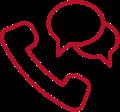Icon Telefon Kommunikation