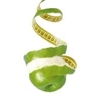 Rundum gsund Apfel und Maßband